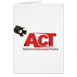 Logotipo del teatro de la comunidad de Abilene Tarjeta De Felicitación