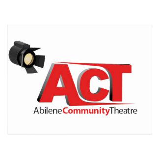 Logotipo del teatro de la comunidad de Abilene Postales