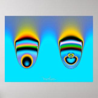 Logotipo del teatro del fractal póster
