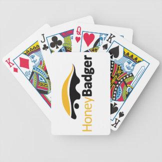 Logotipo del tejón de miel baraja cartas de poker