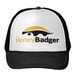 Logotipo del tejón de miel gorro de camionero