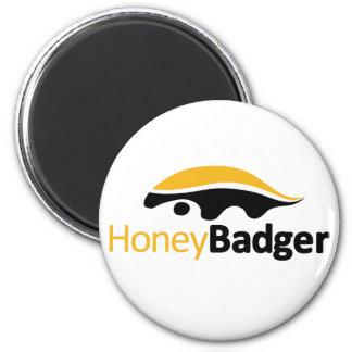 Logotipo del tejón de miel imán redondo 5 cm