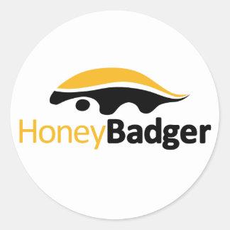 Logotipo del tejón de miel etiquetas redondas