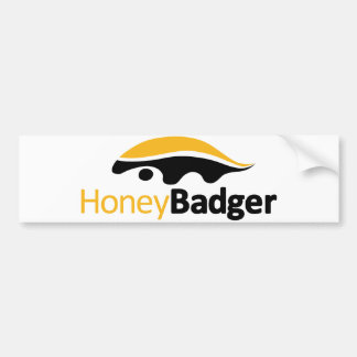 Logotipo del tejón de miel pegatina para auto