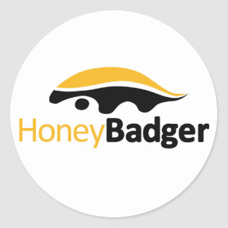 Logotipo del tejón de miel pegatina redonda