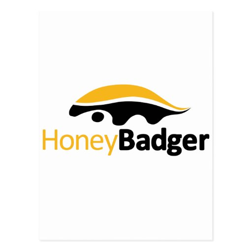 Logotipo del tejón de miel postales