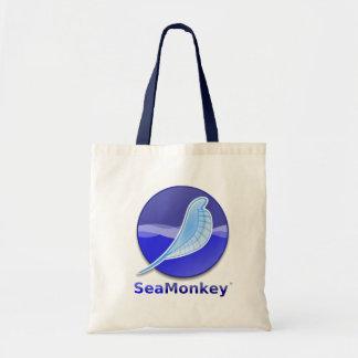Logotipo del texto de SeaMonkey Bolsa Tela Barata