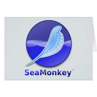 Logotipo del texto de SeaMonkey Felicitación