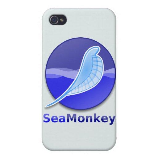 Logotipo del texto de SeaMonkey iPhone 4/4S Carcasas