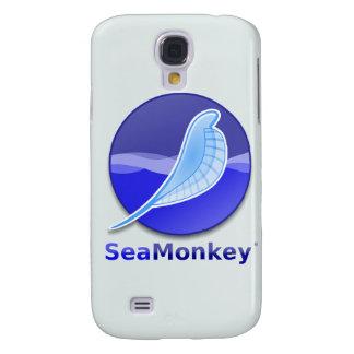 Logotipo del texto de SeaMonkey Funda Para Galaxy S4