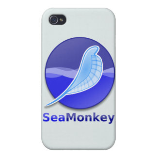 Logotipo del texto de SeaMonkey iPhone 4 Cárcasas