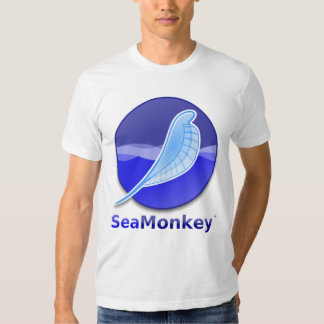 Logotipo del texto de SeaMonkey Playera