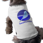 Logotipo del texto de SeaMonkey Playera Sin Mangas Para Perro