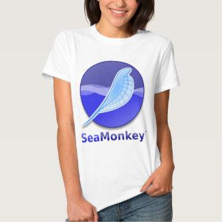 Logotipo del texto de SeaMonkey Poleras
