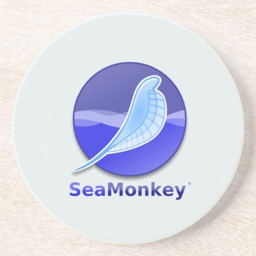Logotipo del texto de SeaMonkey Posavasos Cerveza