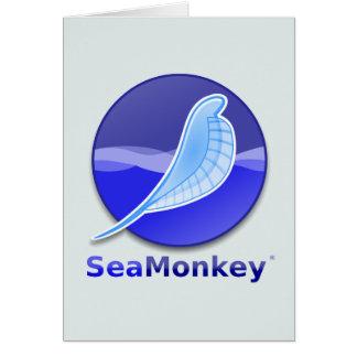 Logotipo del texto de SeaMonkey Tarjeta De Felicitación