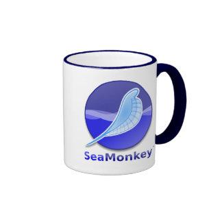 Logotipo del texto de SeaMonkey Taza De Dos Colores