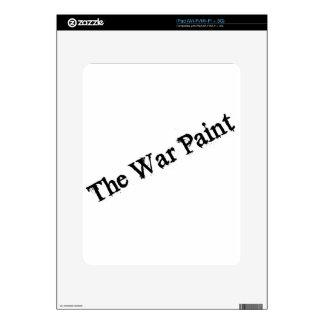 """Logotipo del texto del negro """"de la pintura de gue calcomanías para iPad"""