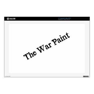 """Logotipo del texto del negro """"de la pintura de gue calcomanías para portátiles"""