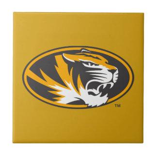 Logotipo del tigre de Missouri Azulejo Cuadrado Pequeño