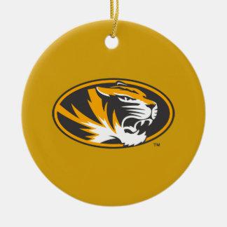 Logotipo del tigre ornamento para arbol de navidad