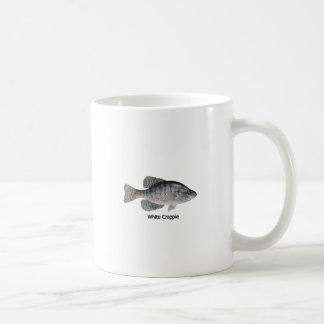 Logotipo del tipo de pez blanco (titulado) taza clásica