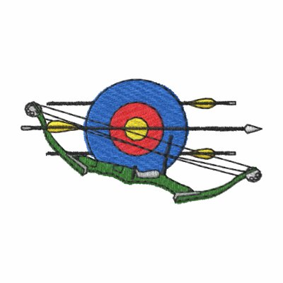 Logotipo del tiro al arco sudadera bordada con capucha