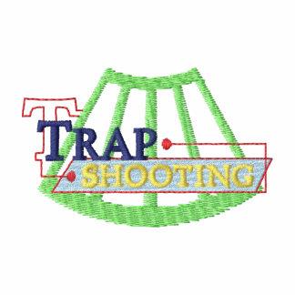 Logotipo del tiroteo de trampa sudadera bordada con capucha