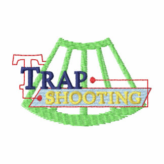 Logotipo del tiroteo de trampa polo bordado