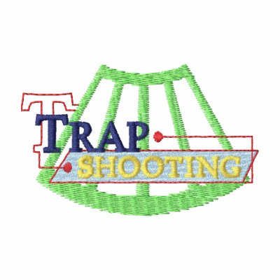Logotipo del tiroteo de trampa camiseta polo