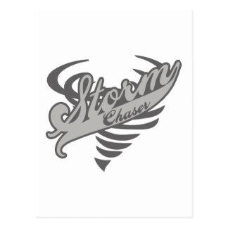 Logotipo del tornado del tornado del cazador de la tarjeta postal