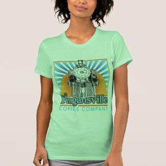 Logotipo del tren del tanque del algodón de las camisetas