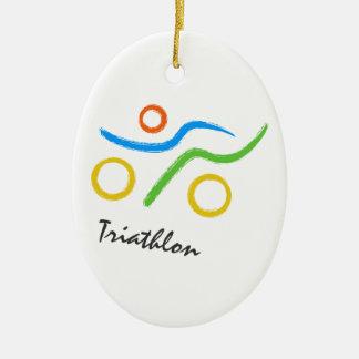 Logotipo del Triathlon Adorno Para Reyes
