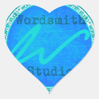 Logotipo del trullo WSS Pegatina En Forma De Corazón