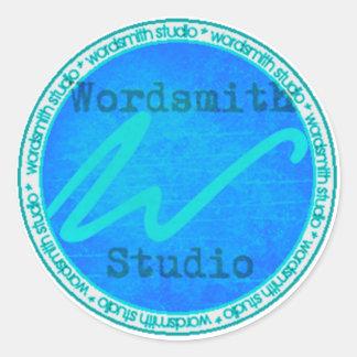 Logotipo del trullo WSS Pegatina Redonda