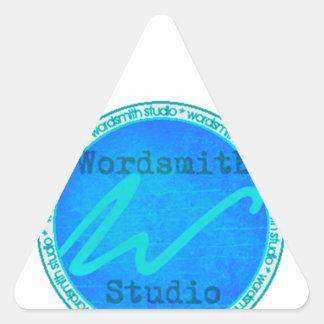 Logotipo del trullo WSS Pegatina Triangular
