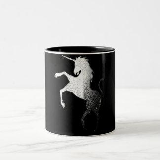 logotipo del unicornio, resplandor tazas de café