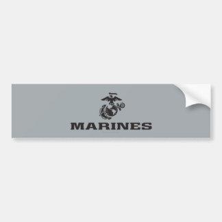 Logotipo del USMC apilado - negro Pegatina Para Auto