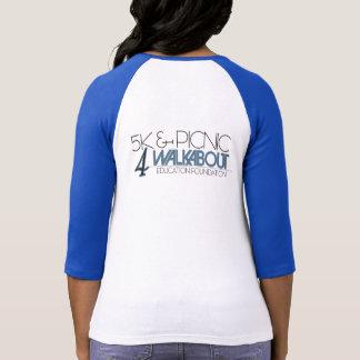 Logotipo del vagabundo con el gráfico trasero camiseta