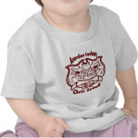 Logotipo del vaquero del acordeón - Bordo Camisetas
