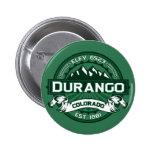 """Logotipo del verde de Durango """"Colorado"""" Pin Redondo De 2 Pulgadas"""