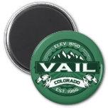 """Logotipo del verde de Vail """"Colorado"""" Imanes Para Frigoríficos"""