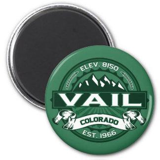 """Logotipo del verde de Vail """"Colorado"""" Imán Redondo 5 Cm"""