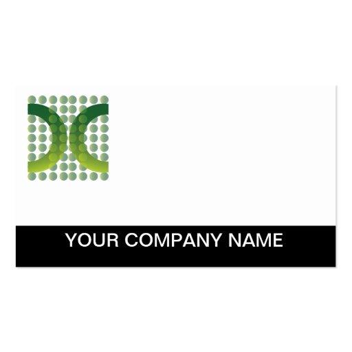 Logotipo del verde del llano de la tarjeta de visi plantillas de tarjetas personales