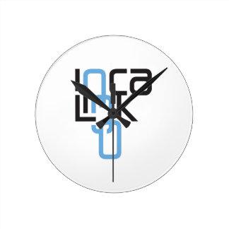 Logotipo del vínculo del inca relojes de pared