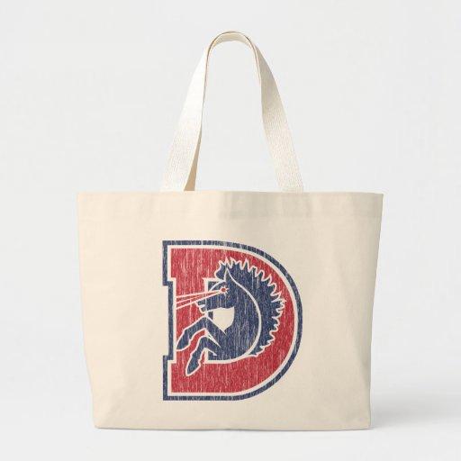 Logotipo del vintage D Bolsas