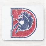 Logotipo del vintage D Denver Alfombrilla De Ratón