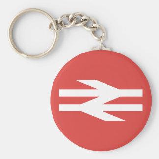 Logotipo del vintage de British Rail Llavero Redondo Tipo Pin
