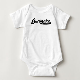 Logotipo del vintage de Burlington Vermont Body Para Bebé