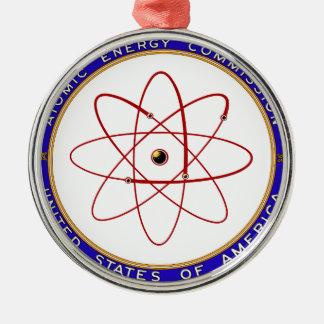 Logotipo del vintage de la Comisión de energía Adorno Navideño Redondo De Metal